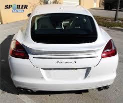 porsche panamera turbo 2010 2010 2013 porsche panamera turbo sport style rear trunk lip spoiler