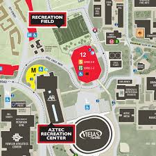 San Diego State University Campus Map by Aztec Recreation Recreation Field
