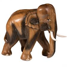 handcarved wooden elephant ornament 26 x 13 x 26cm wooden boxes