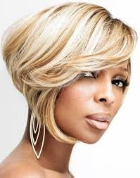 pic of black women side swept bangs and bun hairstyle 15 chic short bob hairstyles black women haircut designs
