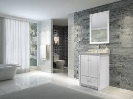 ace adams 25 inch single sink bathroom vanity set in white finish
