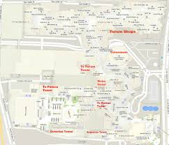 Downtown Las Vegas Map by Caesars Palace Hotel Las Vegas