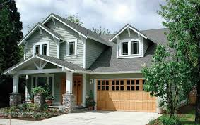 craftsman home plan with bonus room 6903am architectural