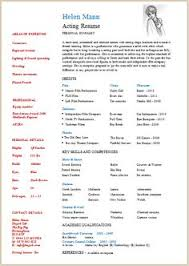Actor Resume Samples by Please Check Here Specially For Acting Resume Example Resume