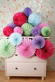 paper fan decorations ipalmay multicolor wedding party favor ideas products hanging