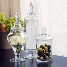 bathroom apothecary jar ideas apothecary jars set 3 133374