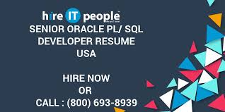 Sample Resume For Oracle Pl Sql Developer by Senior Oracle Pl Sql Developer Resume Hire It People We Get It