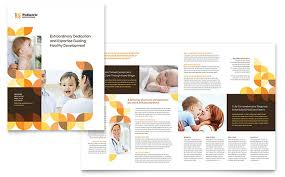 brochure layout indesign template pediatric doctor brochure template design
