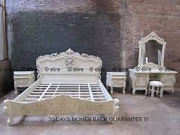 Rococo Bed Frame Bedroom Set Any Size King White Black