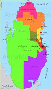 Doha Qatar Map Qatar Map Map Of Qatar Annamap Com
