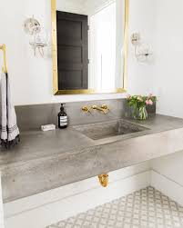 mixed metals in the bathroom see more at www studio mcgee com