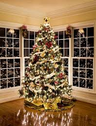 decorated christmas tree christmas trees decorated house beautiful