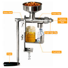 hd manual oil press machine expeller extractor stainless steel 304