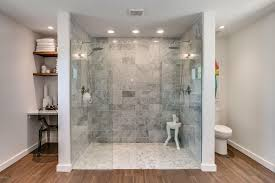 Hardwood Floors In Bathroom Master Bathroom With Hardwood Floors U0026 Rain Shower Head In Phoenix