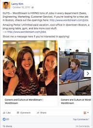 recruiting events target corporate how to use facebook ads to recruit top talent wordstream