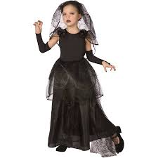 Light Halloween Costumes Light Dark Bride Child Halloween Costume Walmart