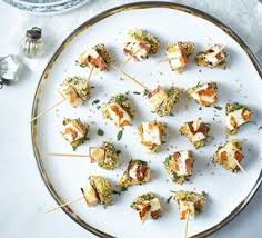 and easy canapes prawn cucumber canape food