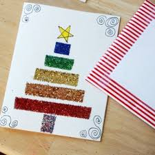 sparkling handmade christmas cards with diy glitter tape