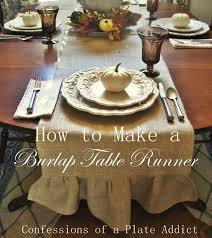 how to make burlap table runners for round tables confessions of a plate addict how to make ruffled burlap table
