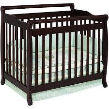 Baby Mod Mini Crib Baby Mod 2 In 1 Convertible Mini Crib Espresso Walmart