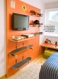 bedroom beautiful teenage with decorative flowers blue wall