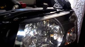 subaru forester grill guard subaru forester headlight removal youtube