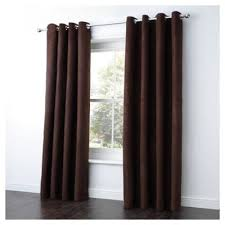 Chocolate Curtains Eyelet Buy Tesco Faux Suede Unlined Eyelet Curtains W168xl229cm 66x90