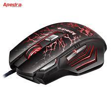 souris pour ordinateur de bureau apedra programmable usb filaire gaming mouse 7 boutons 3200 dpi