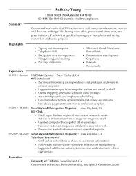 office assistant resumes office assistant resume templates administrative objective skills