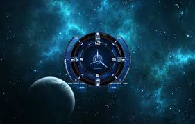 Galaxy Clock Analog Clock Space Theme Android Apps On Google Play