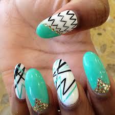 fun nail design white black real gold almond nails nails