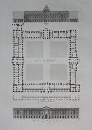 louvre floor plan antique print plan elevation et coupe du louvre