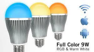 appl wifi kit color 9 watt rgbw led bulb appl