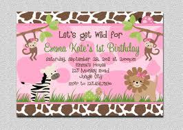5th birthday party invitation safari birthday invitation pink safari birthday party invite
