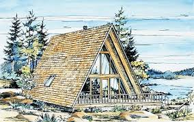 Small A Frame Cabin Plans Houseplan 57368 This 908 Sq Ft Aframe Has Extras Including A