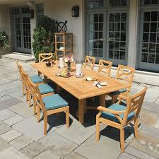 teak dining tables fiori 10 ft rectangular table country casual