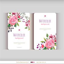 floral business card floral business cards golden floral business cards vector set free