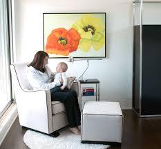 White Nursery Glider Luca Modern Glider Baby Nursery Furniture By Monte Design