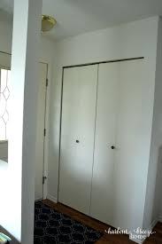 Bi Folding Closet Doors How To Convert Bi Fold Closet Doors Into Modern Farmhouse