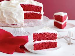 my famous red velvet cake spelling it out candy spelling on
