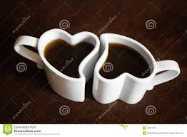 heart shaped cups of coffee stock image image 10617191