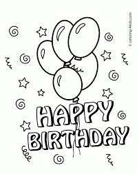 happy birthday cake coloring page coloring pages for mom mom and
