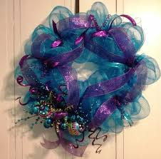 Purple Home Decorations by Tangled Wreaths Christmas Holiday Décor Wreath Deco Mesh