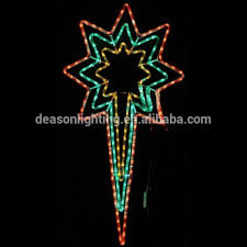 Christmas Rope Light Star by 103cm Large Animated North Star Led Rope Lights Silhouette