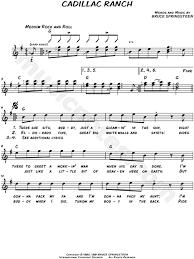 lyrics cadillac ranch bruce springsteen cadillac ranch sheet leadsheet in g