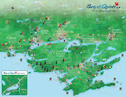 Map Ontario Ca Bay Of Quinte Map Jpg 1 650 1 275 Pixels Prince Edward County