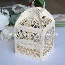 personalized wedding favor boxes aliexpress buy royal blue wedding favors boxes laser cut