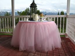 Pink Table Skirt by Pink Tulle Table Skirt Tutu Tableskirt For Wedding Birthday