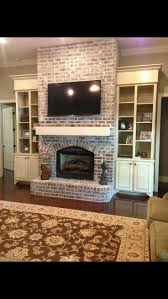 Tiled Fireplace Wall by Best 25 Shelves Around Fireplace Ideas On Pinterest Craftsman