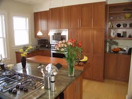 painted kitchen cabinets with natural wood doors kitchen decoration